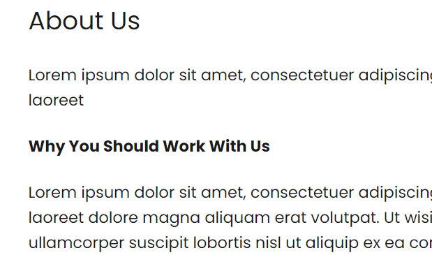 Two examples of paragraph text that visually looks like headings but is not coded as a heading